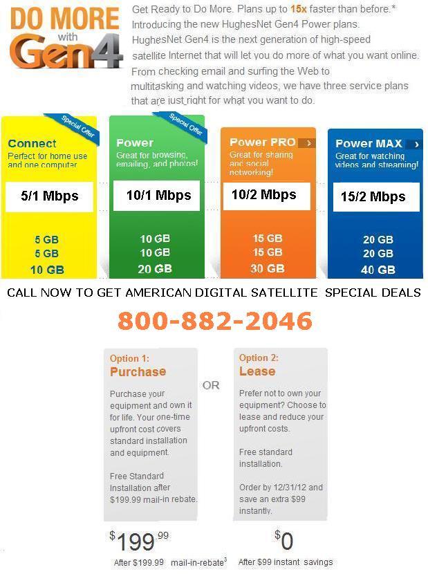 Hughesnet gen4 business plan pricing